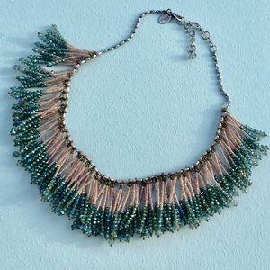 Anthropologie beaded gorgeous bib Necklace NWOT